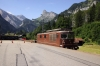 BLS Re425 #191 arrives into Kandersteg with a car train from Goppenstein