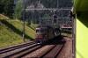BLS Re425 #177 departs Kandersteg with a car train for Goppenstein