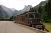 BLS Re425 #173 at Kandersteg having arrived with the 1227 car train from Goppenstein