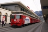 RhB Ge4/4 II #618 waits to depart Chur with the Edelweiss Express train 2427 0935 Chur - Arosa; in conjunction with the Arosa line 100th anniversary