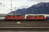 SBB Cargo Re4/4's 11231/11352 at Buchs
