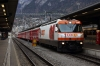 RhB Ge4/4 III #641 waits departure from Chur with RE1125 0858 Chur - St Moritz