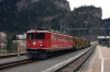 RhB Ge6/6 II #703 at Thusis with 5120 0727 Samedan - Landquart freight