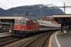 SBB Re4/4 11127 at Arth Goldau with IR2421 1209 Zurich HB - Locarno