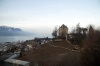 """Lake Geneva from MOB's """"Golden Pass Classic"""" as the 0844 Montreux - Zweisimmen climbs away from Montreux"""