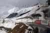 MGB HGe 4/4 II 103 leads the Glacier Express GEX903 0902 St Moritz - Zermatt through Sedrun