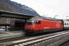 Interlaken Ost (L) BLS Re 4/4 (Re425) 163 with RE3123 1308 Interlaken Ost - Zweisimmen & (R) SBB Re460 460063 with IC974 1300 Interlaken Ost - Basel