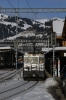 MOB GDe 4/4 6002 waits departure from Gstaad with 2216 0844 Montreux - Zweisimmen Golden Pass Classic