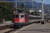 SBB Re4/4 11196 arrives into Sargans with IC10766 0807 Zurich HB - Chur