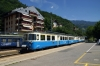 MOB ABDe8/8 EMU #4001 arrives into Chernex with 2221 1305 Zweisimmen - Montreux