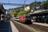 SBB Re460 460046 arrives into Montreux with IR1723 1423 Geneva Airport - Brig