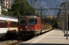 SBB Cargo Re4/4 11240 runs through Montreux with a freight