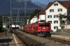 RhB Ge6/6 II 705 arrives into Domat/Ems with 4221 0753 Ilanz - Chur mixed train