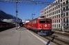 RhB Ge6/6 II 705 departs Chur with 5220 0830 Chur - Landquart freight