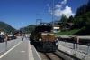 RhB Ge6/6 I #415 & Ge4/6 #353 pause at Tiefencastel with 2125 0825 Landquart - Samedan RhB operated Summer Special