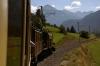 RhB Ge6/6 I #415 & Ge4/6 #353 lead 2125 0825 Landquart - Samedan RhB operated Summer Special between Tiefencastel & Bergun