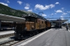 RhB Ge6/6 I #415 & Ge4/6 #353 at Samedan after arrival with 2125 0825 Landquart - Samedan RhB operated Summer Special