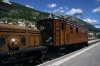 RhB Ge4/6 #353 & Ge6/6 I #415 at Samedan with 2340 1150 Samedan - Scuol-Tarasp RhB operated Summer Special