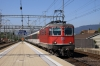 SBB Re4/4 II 11121 arrives into Lenzburg with IR1773 1147 Basel - Zurich HB