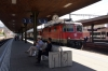 SBB Re4/4 II 11228 waits departure from Lenzburg with IR1774 1308 Zurich HB - Basel