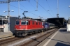 SBB Re4/4 II 11193 & SBB Cargo Re421 421392 wait to depart Zurich HB with IR3831 1733 Zurich HB - St Gallen