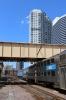 Metra F40PH's 144/161 run into Chicago OTC ecs, to form 41 1611 Chicago Ogilvie Transportation Center - Elburn