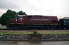 A&M Alco C420 #68 (#44 rear) heads the 0800 Springdale - Bentonville NRHS Convention Special