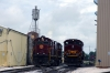 Old & New at the A&M; Alco C420's 44/68 are married together at Springdale in readiness for their afternoon NRHS Convention Special south to Mountainburg while EMD SD70ACe's 71, 72 & 70 wait their next duty on shed