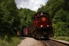A&M Alco C420's 44/68 head the 1300 Springdale - Mountainburg NRHS Convention photo freight at Winslow Tunnel South Portal