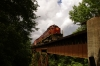 A&M Alco C420's 44/68 head the 1300 Springdale - Mountainburg NRHS Convention photo freight at Trestle No. 1 between Winslow & Mountainburg