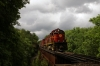 A&M Alco C420's 44/68 head the 1300 Springdale - Mountainburg NRHS Convention photo freight at Trestle No.3 between Winslow & Mountainburg