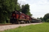 A&M Alco C420's 44/68 perform a photo run-by at Mountainburg with the 0800 Springdale - Fort Smith NRHS Convention Special
