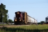 A&M Aclo C424 #34 runs by Caudle Avenue, Springdale, as it heads to the A&M's Springdale North Yard to switch cars