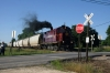 A&M Alco C424 #34 switches at the south end of Springdale North Yard (Old Wire Road)