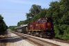 A&M Alco C420's 68/44 shunt the 0800 Springdale - Monett NRHS Convention Special into a siding at Exeter to allow a southbound freight to pass