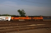BNSF EMD SD70ACe #9362 & GE ES44AC #6201 at Burlington, Iowa