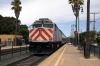 Caltrain EMD F40PH-2 #918 departs San Mateo with 429 1100 San Jose Diridon - San Francisco