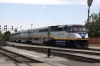 Amtrak California EMD F59PHI #2001 arrives into San Jose Diridon with 733 1040 Sacramento - San Jose Diridon