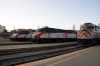 Caltrain San Francisco station (L-R) EMD F40PH-2 #911, MPI MP36PH-3C #927, F40PH-2 #906 & MP36PH-3C #928 & F40PH-2 #904 with 446 2015 San Francisco - San Jose Diridon