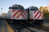 Caltrain San Francisco station EMD F40PH-2's #'s 917/915 spare