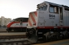 Caltrain San Francisco station MPI MP36PH-3C #928 spare & EMD F40PH-2 #904 with 446 2015 San Francisco - San Jose Diridon