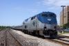 Amtrak GE P42DC's 34/126 at Pontiac after arrival with 350 0700 Chicago Union - Pontiac