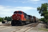 CN GE C44-9W #2722 & GMD SD70I #5621 head a freight through Pontiac
