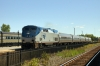 "Amtrak GE P42DC #84 arrives at Utica with 63 0715 New York Penn - Toronto Union ""Maple Leaf"""