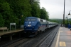 MTA GE P32AC-DM #207 passes through Cold Spring with 853 1731 Grand Central - Poughkeepsie