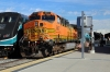 BNSF GE AC4400CW 5617 at LA Union (with MPI MP36PHI-3C #899 on the rear) having arrived with 110 0828 Moorpark - LA Union