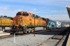 BNSF GE AC4400CW 5662 at LA Union (with MPI MP36PH-3C #901 leading) waiting to depart with 306 1019 LA Union - San Bernadino