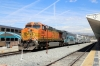 BNSF GE AC4400CW 5668 at LA Union (with EMD F59PHI #877 leading) brings up the rear of 109 1243 LA Union - Moorpark