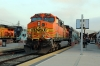 BNSF GE AC4400CW 5649 (with MPI MP36PH-3C #894 on the opposite end) waits to depart LA Union with 302 0725 LA Union - San Bernadino