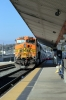 BNSF GE AC4400CW 5649 (with MPI MP36PH-3C #894 on the rear) arrives into LA Union with 116 1419 Moorpark - LA Union